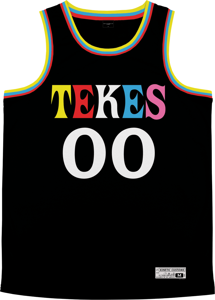 Tau Kappa Epsilon - Crayon House Basketball Jersey - Kinetic Society