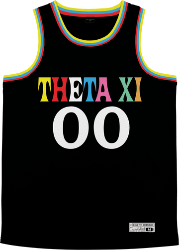 Theta Xi - Crayon House Basketball Jersey - Kinetic Society