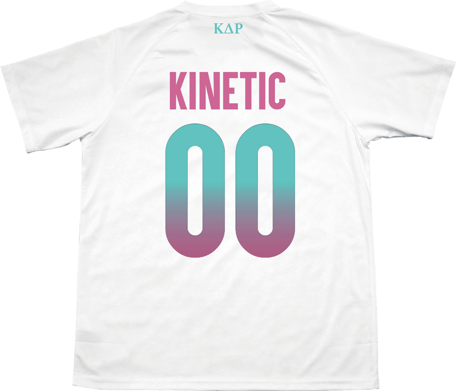 Kappa Delta Rho - White Candy Floss Soccer Jersey - Kinetic Society