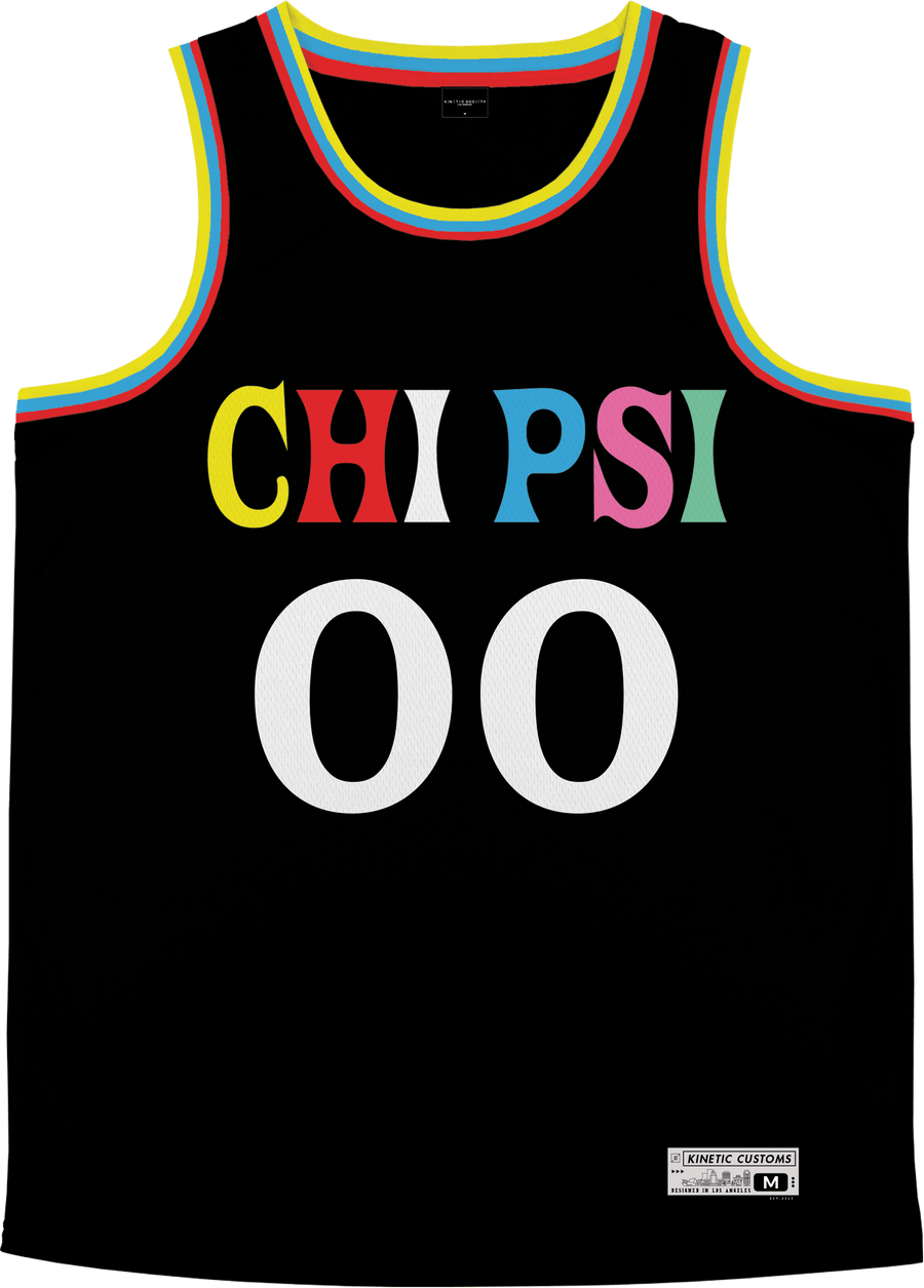 Chi Psi - Crayon House Basketball Jersey Premium Basketball Kinetic Society LLC