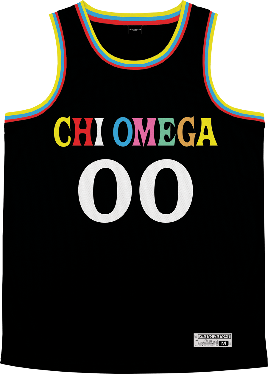 Chi Omega - Crayon House Basketball Jersey - Kinetic Society