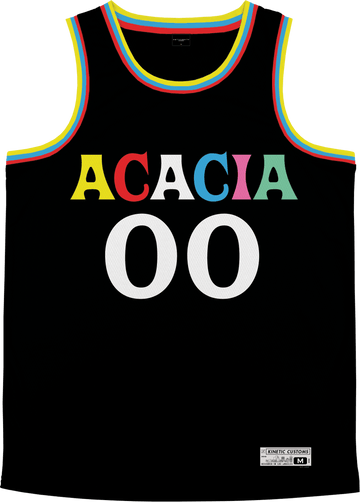 Acacia - Crayon House Basketball Jersey Premium Basketball Kinetic Society LLC