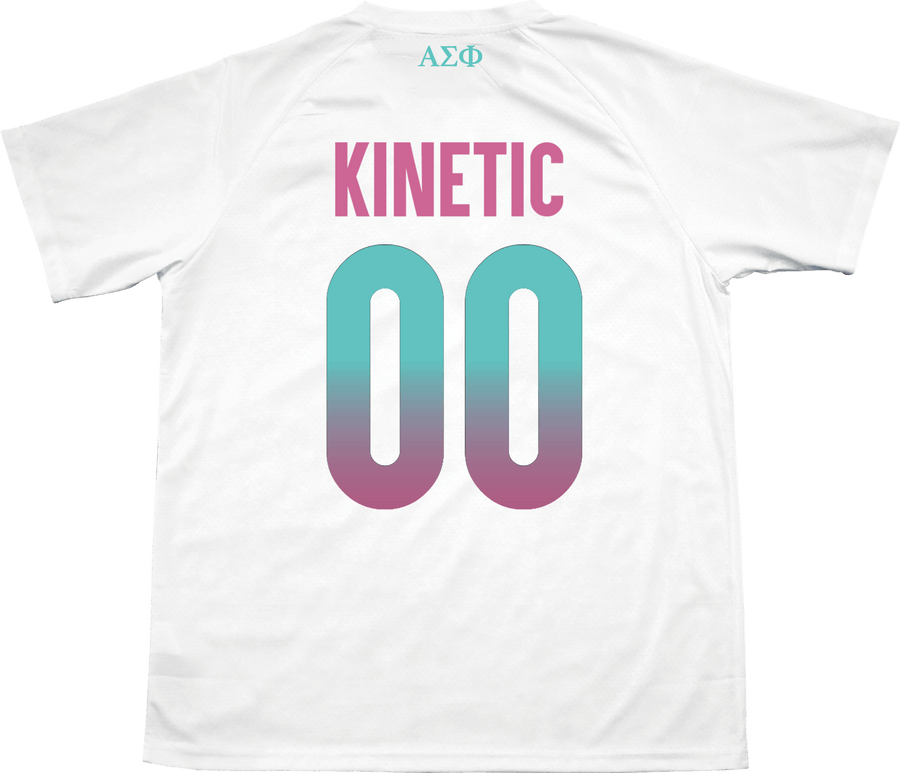 Alpha Sigma Phi - White Candy Floss Soccer Jersey - Kinetic Society