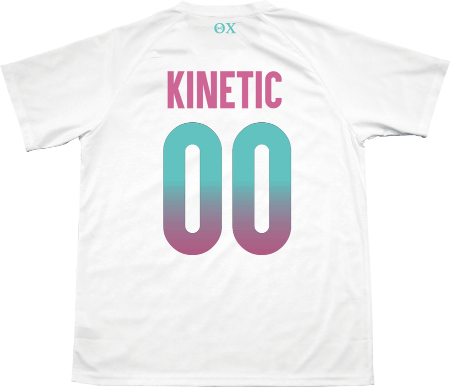 Theta Chi - White Candy Floss Soccer Jersey - Kinetic Society