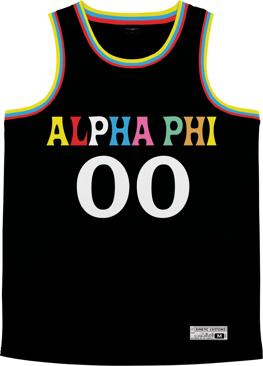 Alpha Phi - Crayon House Basketball Jersey - Kinetic Society