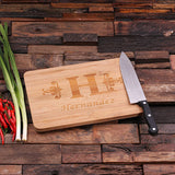 Bamboo Cutting Board - H - Rion Douglas Gifts - 1