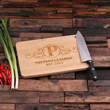 Bamboo Cutting Board - The Family - Rion Douglas Gifts - 1