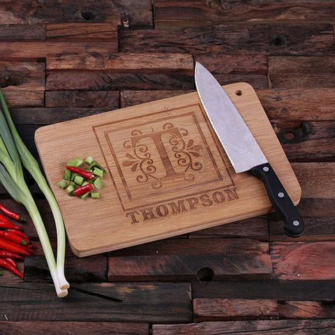 Bamboo Cutting Board - Monogram - Rion Douglas Gifts