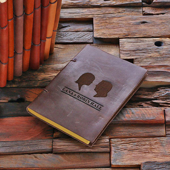 Personalized Leather Notebook Journal - Couple - Rion Douglas Gifts - 1