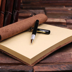 Personalized Leather Notebook Journal - World - Rion Douglas Gifts - 3