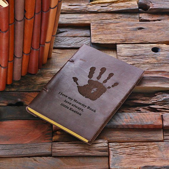 Personalized Leather Notebook Journal - Hand - Rion Douglas Gifts - 1