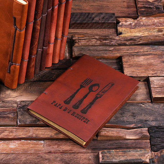 Personalized Leather Notebook Journal - Utensils - Rion Douglas Gifts - 1