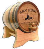 Wine Bar Bistro Personalized Oak Barrel - Rion Douglas Gifts - 1