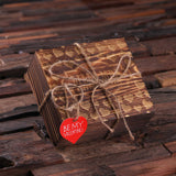 Valentine's Day Double Heart Key Chains with Wood Gift Box - Rion Douglas Gifts - 3