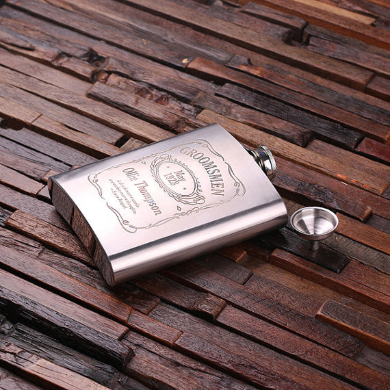 Personalized Stainless Steel Flask – 18 oz. - Rion Douglas Gifts - 2