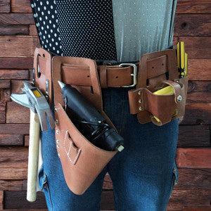 Engraved Cow Leather Tool Belt - Rion Douglas Gifts - 2