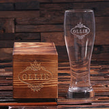 A Personalized Pilsner Beer Glass with Keepsake Box – 24 oz. - Rion Douglas Gifts - 2