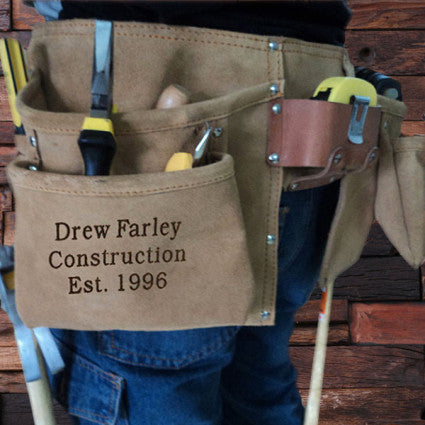 Engraved Suede Complete Tool Belt - Rion Douglas Gifts - 1