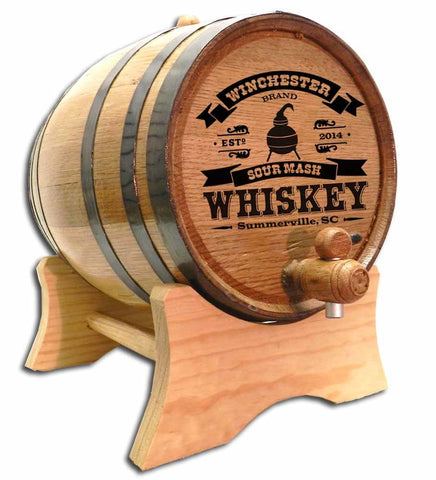 Copper Pot Whiskey Personalized Oak Barrel - Rion Douglas Gifts - 1