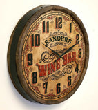 Wine Bar Quarter Barrel Clock - Rion Douglas Gifts - 2