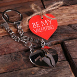 Valentine's Day Double Heart Key Chains with Wood Gift Box - Rion Douglas Gifts - 2
