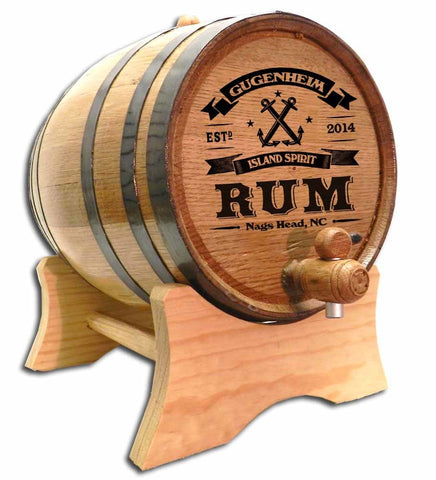 Anchor Rum Personalized Oak Barrel