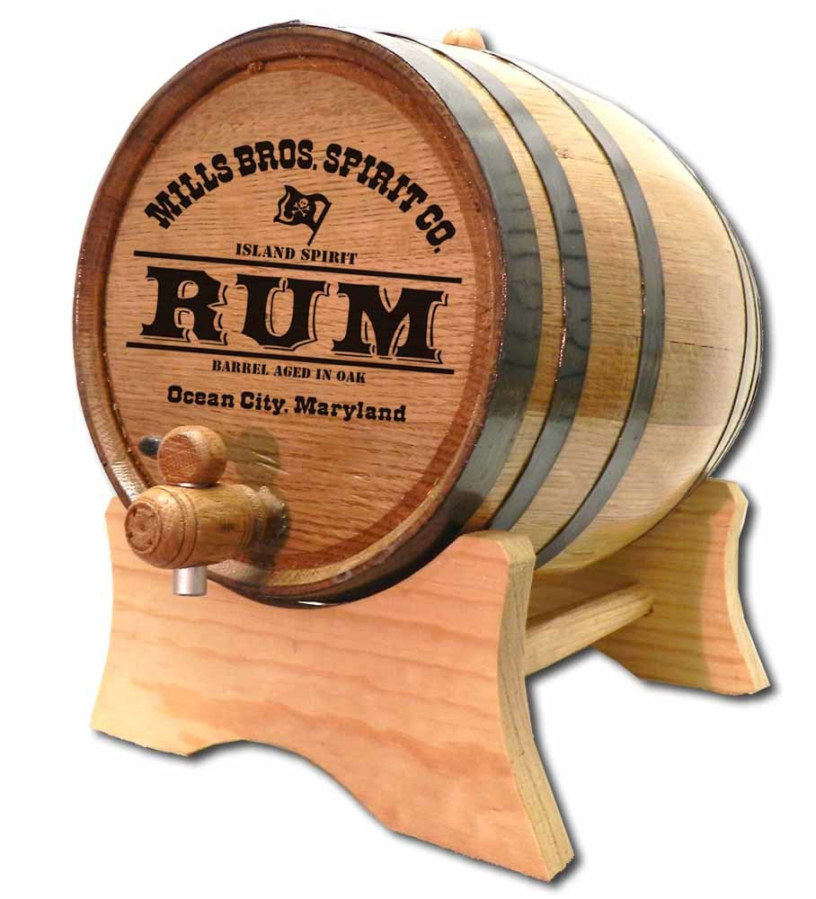 Pirate Rum Personalized Oak Barrel