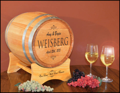 Wedding Barrel™ Card Holder Oak Barrel