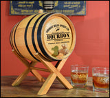 Wine Bar Bistro Personalized Oak Barrel - Rion Douglas Gifts - 4