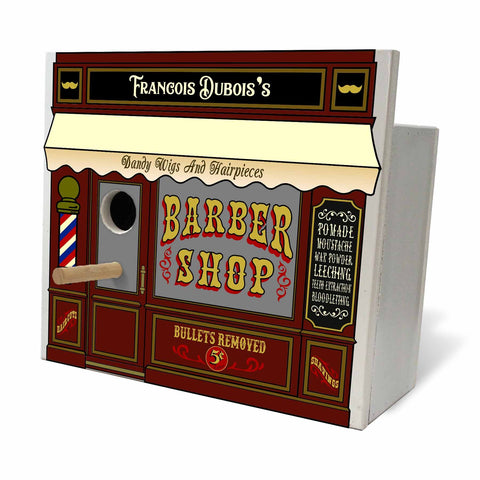 Personalized Birdhouse - Barber Shop