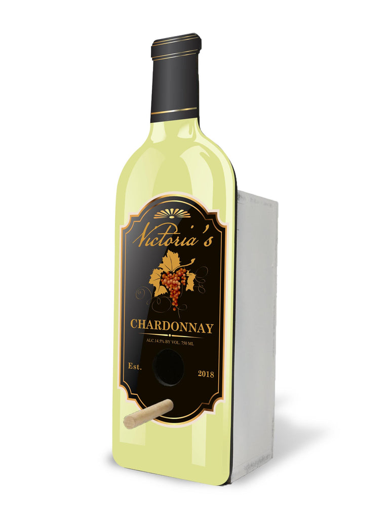 Personalized Birdhouse Bird House - Chardonnay Winehouse™