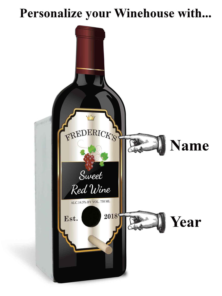 Personalized Birdhouse Bird House Red Wine