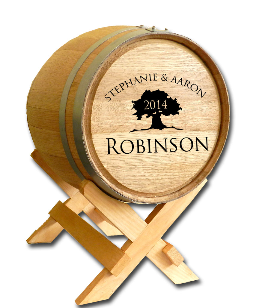 Tree of Life Wedding Barrel™ Card Holder Oak Barrel