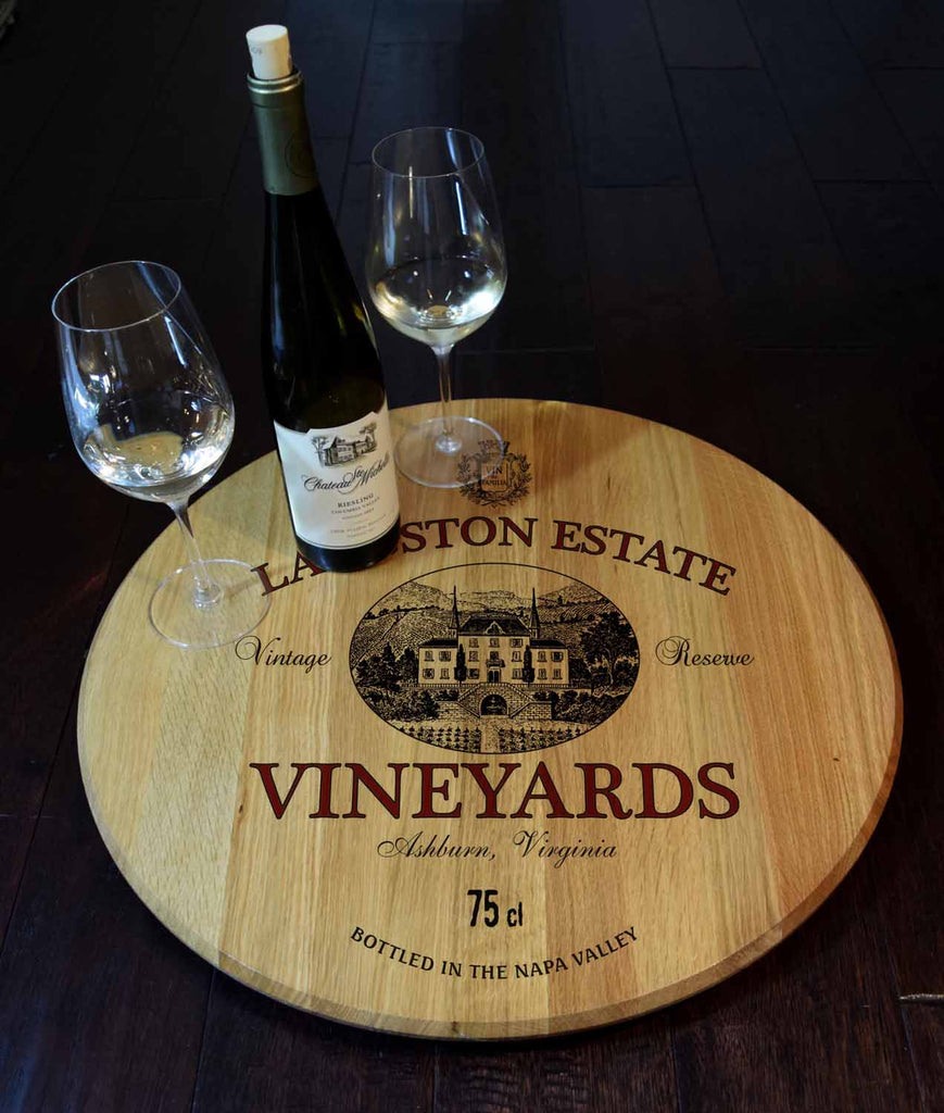 Estate Personalized Barrel Head Lazy Susan