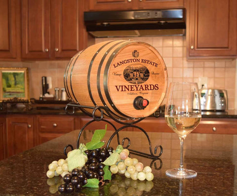 Vineyards Personalized Oak Bag-N-Barrel