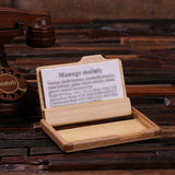 Personalized Wooden Business Card Holder - Rion Douglas Gifts - 2