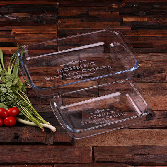 Personalized Casserole Baking Dish 1 Liter, 2 Liter or Set of 2 - Rion Douglas Gifts - 1