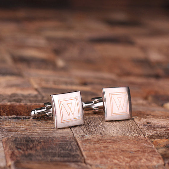 Engraved Stainless Steel Cuff Links Cufflinks – Classic Square - Rion Douglas Gifts - 2