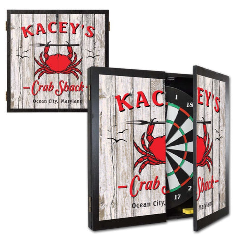 Personalized Dartboard and Cabinet Set