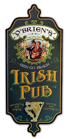 Irish Pub - Personalized Dubliner Wood Sign