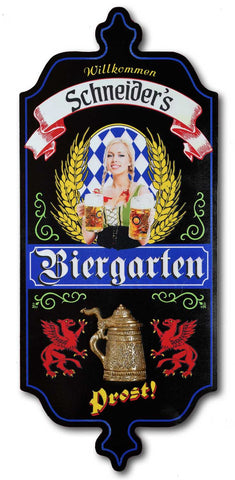 Biergarten - Personalized Dubliner Wood Sign