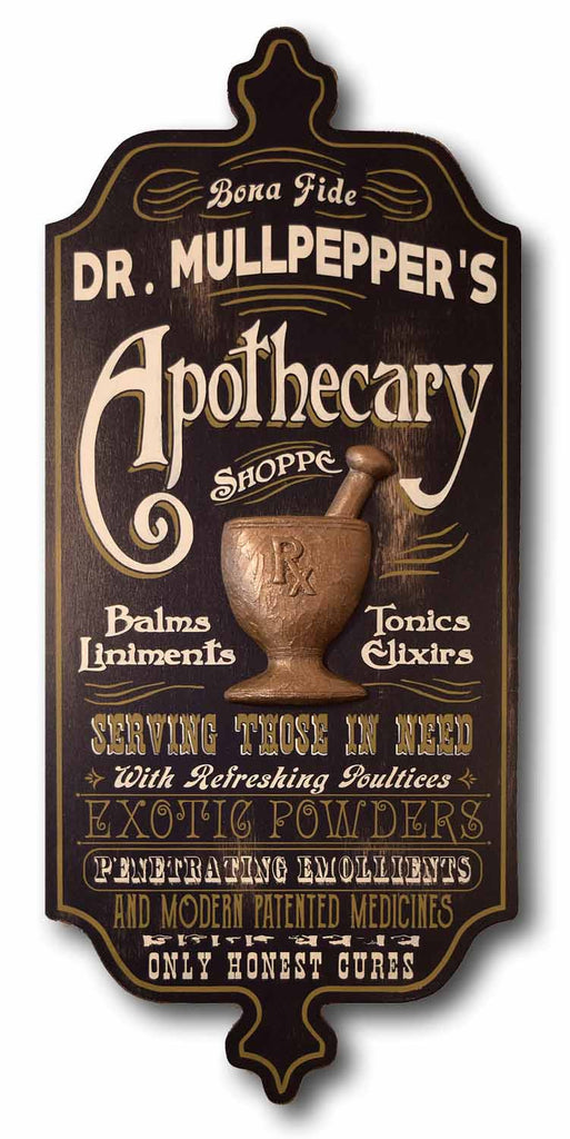 Apothecary - Personalized Dubliner Wood Sign - Rion Douglas Gifts - 1