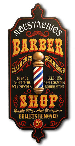 Barber Shop - Personalized Dubliner Wood Sign - Rion Douglas Gifts - 1