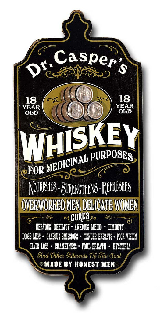 Medicinal Whiskey - Personalized Dubliner Wood Sign - Rion Douglas Gifts - 1