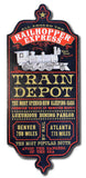 Train Depot - Personalized Dubliner Wood Sign - Rion Douglas Gifts - 1