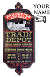 Train Depot - Personalized Dubliner Wood Sign - Rion Douglas Gifts - 3