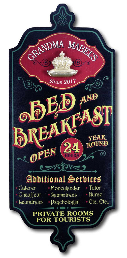 Bed & Breakfast - Personalized Dubliner Wood Sign