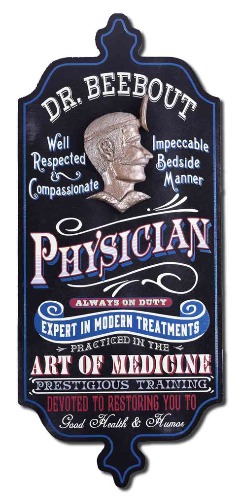 Physician - Personalized Dubliner Vintage Wood Plank Sign