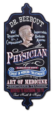 Physician - Personalized Dubliner Wood Sign