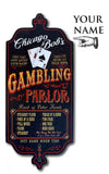Gambling Parlor - Personalized Dubliner Wood Sign - Rion Douglas Gifts - 3